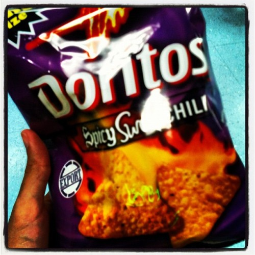 Where have you been all my life? #doritos #salty #spicy #sweet #burnssogood #yummy #food #chips #snack #xxx (Taken with Instagram at Video Avenue)