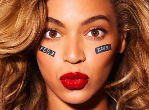 eonline:  Beyonce announces that she will be the Superbowl halftime show!!! Who else can't wait until February 3rd?!  My reaction: