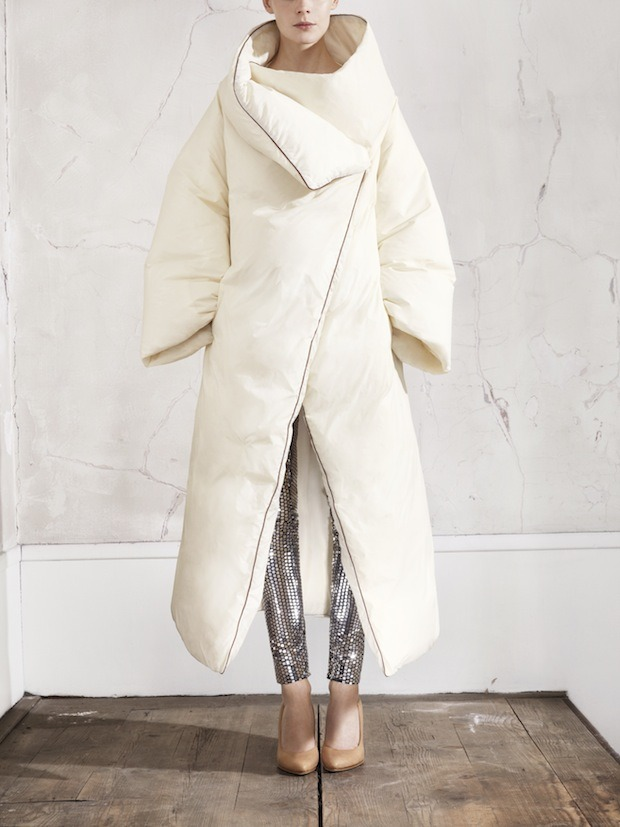Comforter as coat dreams come true:  Margiela x H&M collection