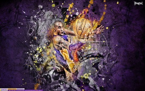 "Kobe Bryant ""Sensation"" Artwork for Posterizes  Tyson Beck Designs"