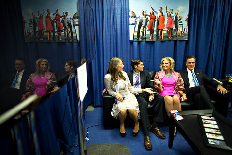 The NYT's Josh Haner gets a really nice shot of the Romney family backstage ahead of the debate (via The Caucus)