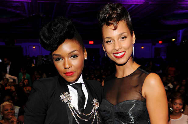 October 13: Janelle Monae and Alicia Keys attend BET's Black Girls Rock 2012 in New York City.