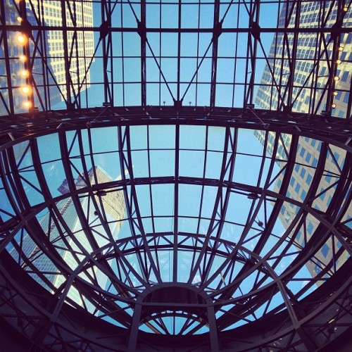 #lookingup #worldfinancialcenter #wtc (Taken with Instagram at Winter Garden)