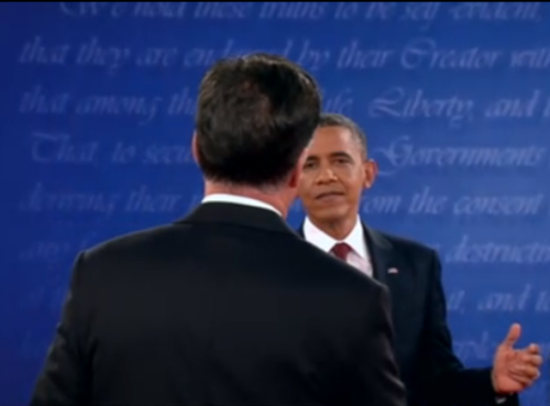 "Obama's ""come at me bro"" look. They're having an oil fight. Fortunately, not with actual oil."