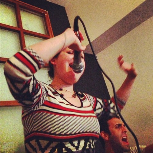 Intense karaoke with Jessie and Jesse (Taken with Instagram)