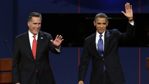 Leaked Debate Agreement Shows Both Obama and Romney are Sniveling Cowards John Cook, gawker.com Time's Mark Halperin has made him­self use­ful for once by obtain­ing, and pub­lish­ing, a copy of the 21-page mem­o­ran­dum of under­stand­ing that the Obama and Rom­ney cam­paigns nego­ti­at­ed with the Com­mis­sion on Pres­i­den­tial…