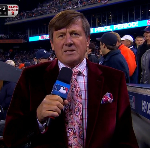 MLB ALCS Game 3 - Yankees @ Tigers Craig Sager 4th inning report
