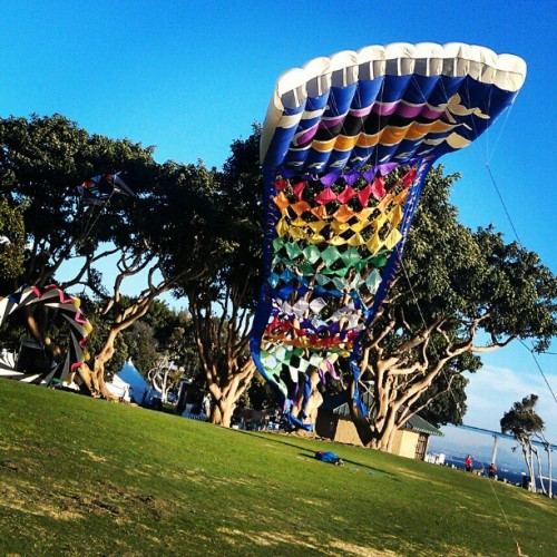This kite was so huge! #SeaportVillage #Tuesday #Kite #Colorful  (Taken with Instagram)
