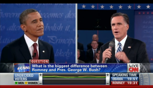 "shortformblog:  Obama, thinking to himself: ""Go ahead, Mitt. Dig yourself out of this question."""