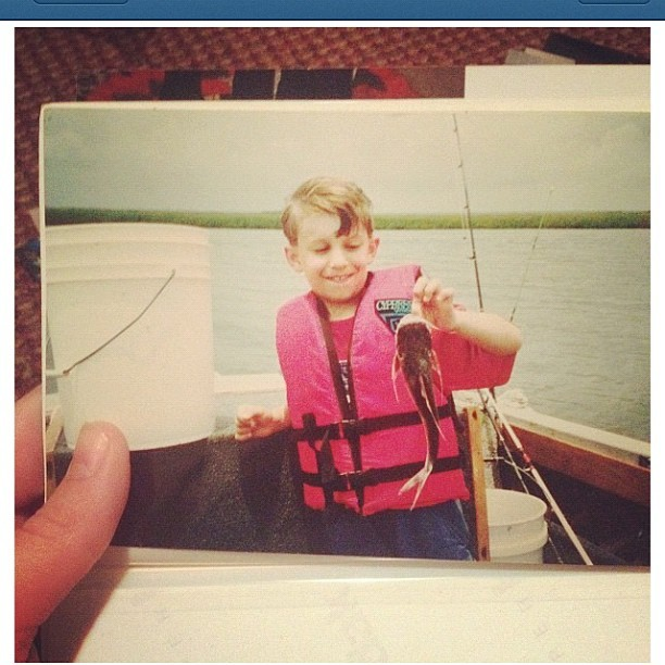 My sister just posted this picture of me from a #fishing #trip when I was a #kid ! #careymurdock  (Taken with Instagram)