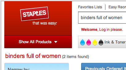 bindersfullofwomen:  Ah, that's where he got them.