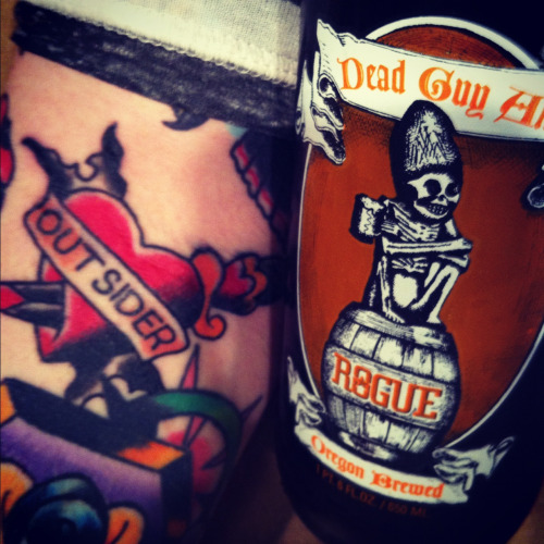 Dead Guy Ale from Rouge! Outsider tattoo inspired from my favorite Ramones song.