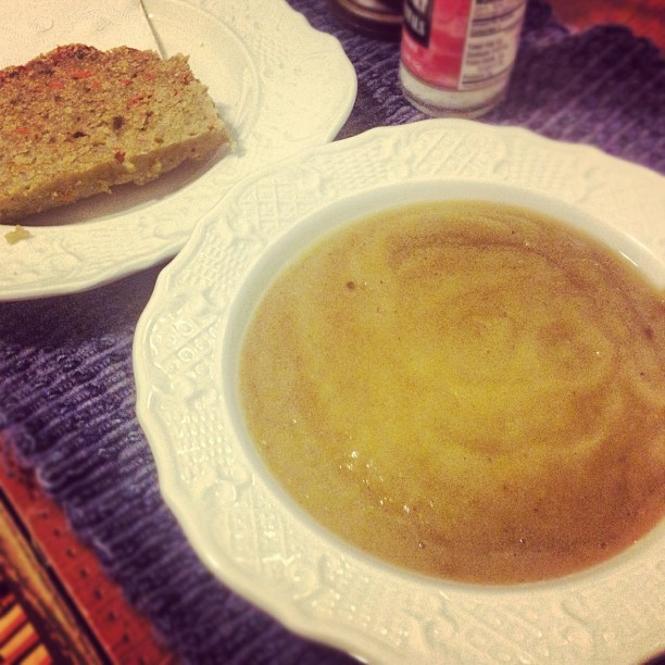 Creamy Cauliflower Soup with #GF Cornbread #vegan (Taken with Instagram)
