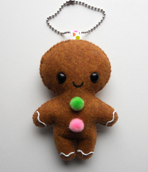 Classic Gingerbread Man Ornament/Keychain by by michellecoffee