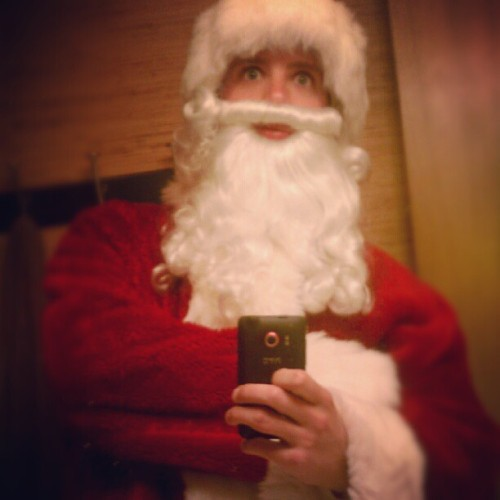 Looks like somebody got his hands on a full Santa suit…#SantaDare just got REAL…video soon! (Taken with Instagram)