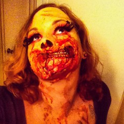 And it's Halloween again! #zombie #zomb #zombs #zombify #makeup #halloween #specialfx #effects #horror #undead #gross (Taken with Instagram)