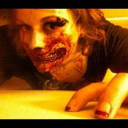 #me #selfportrait #self #justme #halloween #makeup #zombie (Taken with Instagram)