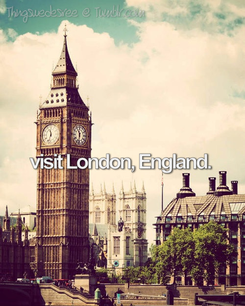 thingswedesiree:  Reblog if you want to travel to London one day.