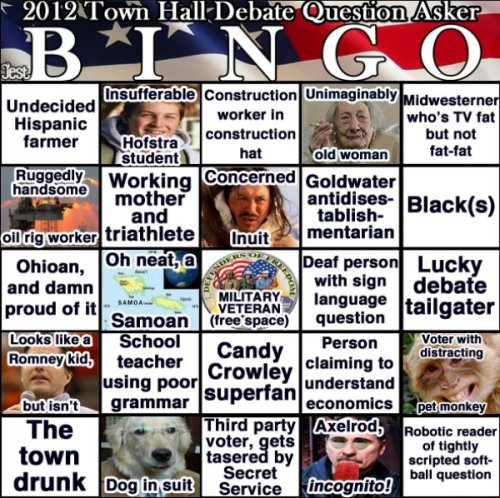 Okay, so did anybody make any bingo scores besides the very last one? Let us know.