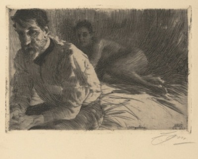 Anders Zorn, Augustus Saint Gaudens II (Saint Gaudens and his model), 1897