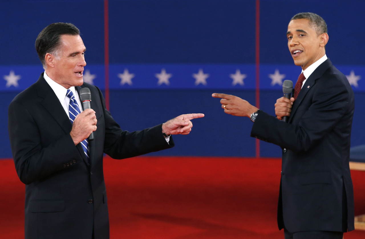 "President Barack Obama aggressively challenged Republican candidate Mitt Romney on jobs, energy and Libya in their second debate on Tuesday as the Democrat tried reclaim the momentum in a tight White House race. Obama was much sharper and more energetic than in their first debate two weeks ago, when his listless performance was heavily criticized and gave Romney's campaign a much-needed boost. The incumbent fought back against Romney's accusations that he had played down the attack by Islamist militants in Libya last month that killed four Americans, including the U.S. Ambassador Chris Stevens. ""I'm the president and I'm always responsible,"" Obama said. The two men argued over whether the White House had described the Benghazi attack as terrorism or not, with Obama saying he had in fact called it an act of terror when he spoke in the Rose Garden the following day. READ ON: Obama takes offensive against Romney in debate rematch"