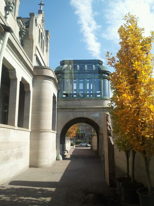blackgoldblues:  Swedish American Institute. Outside look of the solarium.