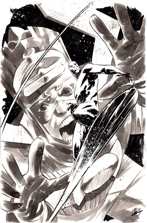 Matteo Scalera convention sketch #370: The Silver Surfer and Galactus