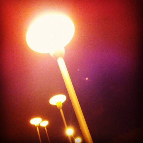 #eliminate cool #lighting up some stairs by my place. #light #sky #shine #night   (Taken with Instagram)