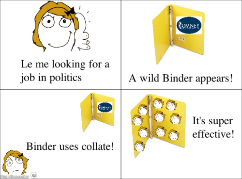 bindersfullofwomen:  A wild Binder appears!  This might be the best one yet.