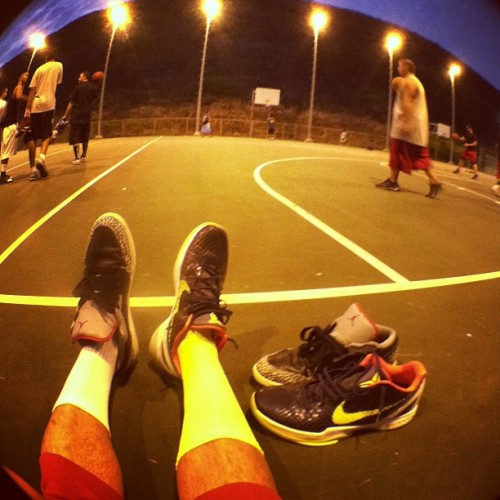 Double up. #ballin #thelake #saltlake #zkvi #aj1 #fisheye (Taken with Instagram)