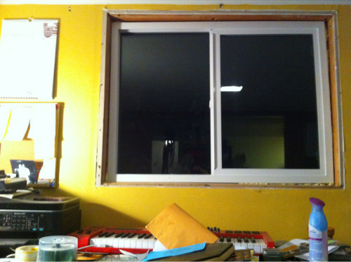 FALL BREAK 08 PROJECTS: day 02: new window #2 in studio: complete: