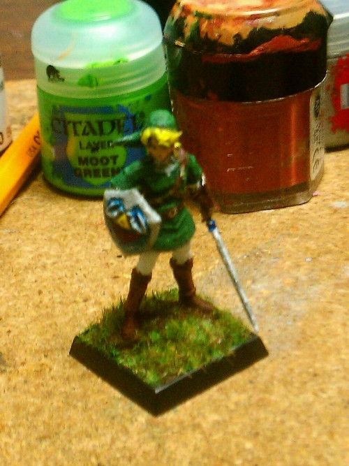 My friend got me a 3D printed Link mini and I painted it!