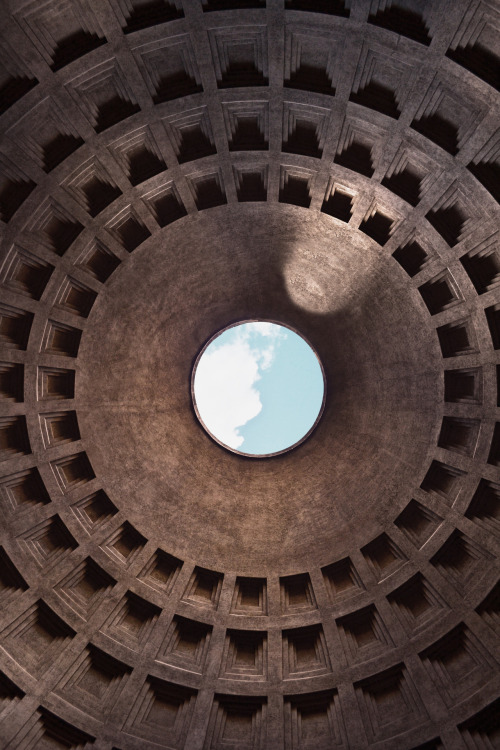 The ultimate analysis of light, shadow, form and texture. The Pantheon - Rome, Italy - 126 A.D Photo taken during my travels in 2010.