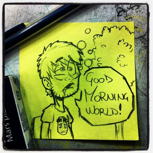 #goodmorning #world!!! #LRN at #work! #sketch #draw #job #coma #thurstday (Scattata con Instagram)