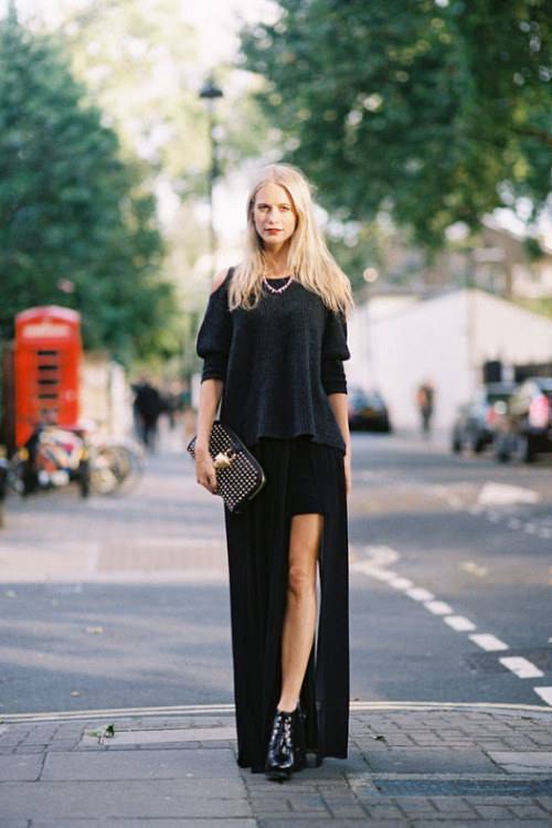 what-do-i-wear:  Poppy Delevigne, before Sass & Bide, London, September 2012. (image: vanessajackman)