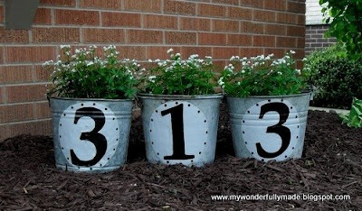 grandjunctionbroker:  Address planters. Make your house number visible!