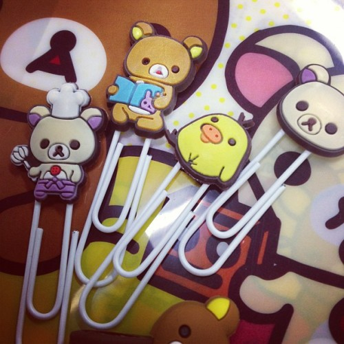 More #stupid #shopping #kawaii #rilakkuma #paper #clip #stationary  (Taken with Instagram)