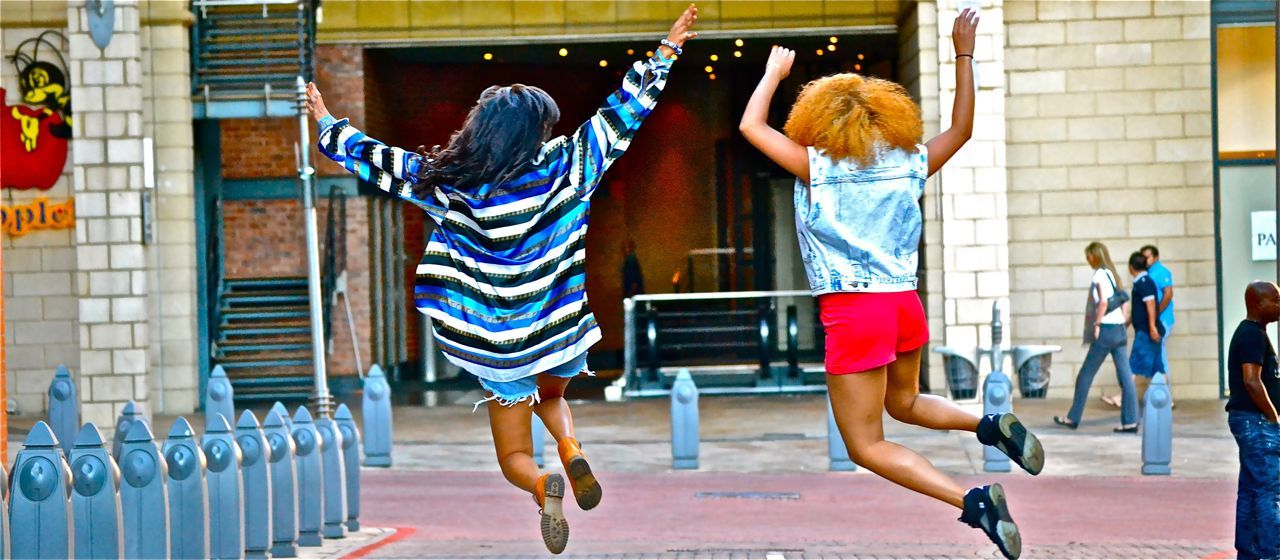 SOUTH AFRICAN STREET STYLE Nicole and Kay.  Location: Melrose Arch, South Africa. Photographed by: The Expressionist  Like on Facebook: The Expressionist Follow on Twitter: The Expressionist