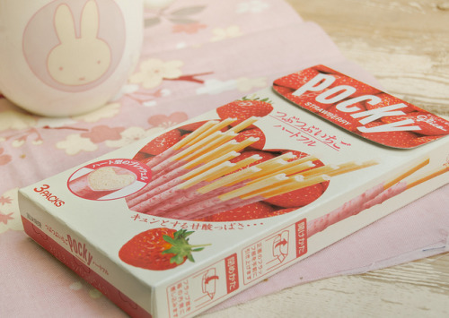 irresistableness:  Pocky strawberry by Silivren on Flickr.
