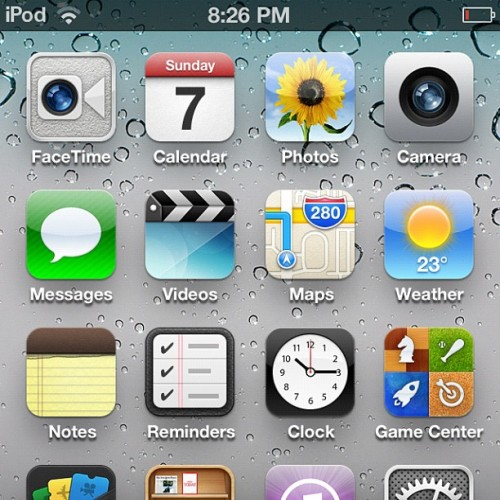 First look at iOS 6…!  (Taken with Instagram)
