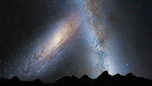 Our Sky 3.75 billion years from now. NASA astronomers announced Thursday they can now predict with certainty the next major cosmic event to affect our galaxy, sun, and solar system: the titanic collision of our Milky Way galaxy with the neighboring Andromeda galaxy.The Milky Way is destined to get a major makeover during the encounter, which is predicted to happen four billion years from now. It is likely the sun will be flung into a new region of our galaxy, but our Earth and solar system are in no danger of being destroyed. NASA has created a video depicting Earth's night sky during the next four billion years, with the Milky Way on a head-on collision with Andromeda. Watch the Video