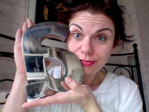 rach-cd:  @caitlinmoran My best award ever: Honourary Gay Of The Year, at the inaugural Attitude Awards. Literally, SCREAM [x]