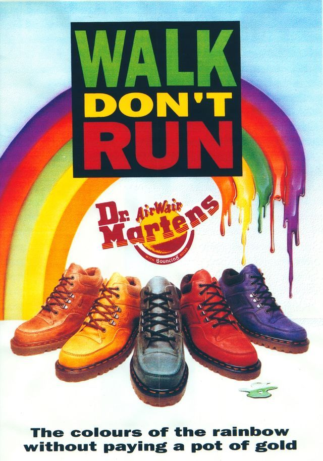 We thought we'd share with you this colourful old school Dr Martens advert from the 1990's! With over 30 styles in our online store in a range of colours, we're pleased to say the Dr Martens brand is as strong as ever! Visit our website to see our huge online range!  For our latest offers and new arrivals to our online stores follow us on: