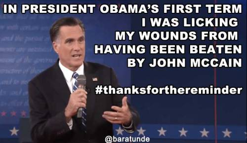 Mitt Romney reminds us that he lost to John McCain.
