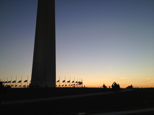 Washington Monument at dusk, on my #bikedc commute home