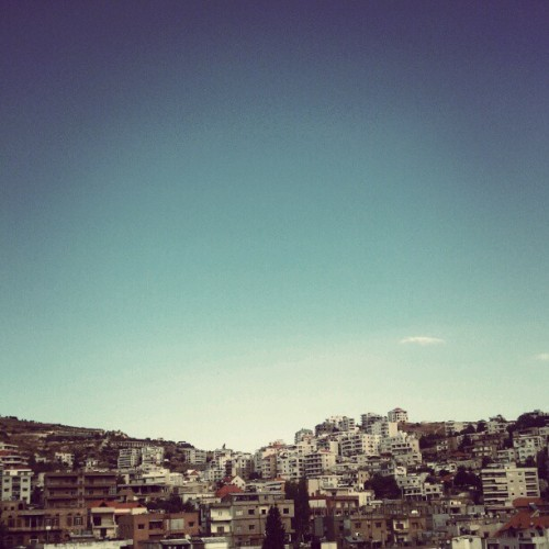 #zahle #lebanon #blue #sky #fall #2012 #androidonly  (Taken with Instagram)