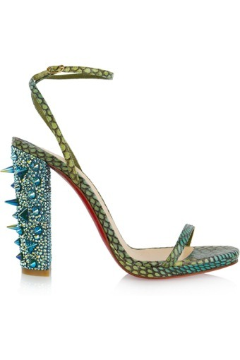 I don't actually wear very many Christian Louboutin heels, but these are cool and weird in a wonderful way. they make me think of the Green Goblin