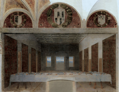 murketing:   Abandoned version of leonardo da vinci's 'the last supper'  (via abandoned paintings by bence hajdu)