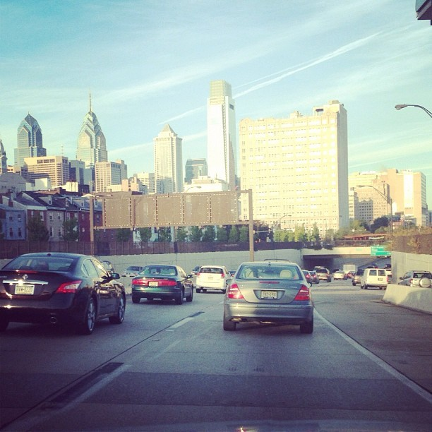 Driving to Philly in the morning traffic. Yay. #traffic #philly #driving #gahhhfuckkk (Taken with Instagram)