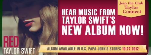 """Album Available In U.S. Papa John's Stores…"" This isnt real life, Xtina should do this as well lol"